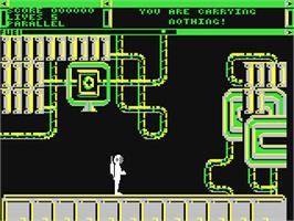 In game image of Back to Reality on the Commodore 64.
