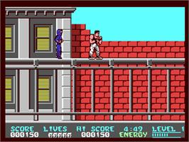 In game image of Bad Dudes on the Commodore 64.