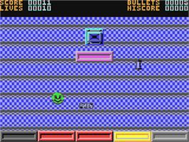 In game image of Ball Crazy on the Commodore 64.