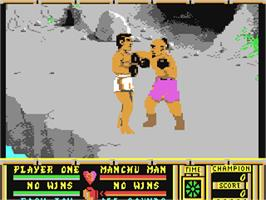 In game image of Bangkok Knights on the Commodore 64.