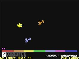 In game image of Batalyx on the Commodore 64.