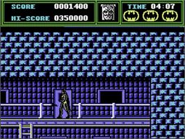 In game image of Batman: The Caped Crusader on the Commodore 64.