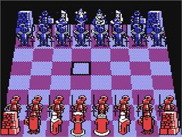 In game image of Battle Chess on the Commodore 64.