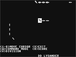 In game image of Battle Cruiser on the Commodore 64.