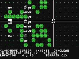 In game image of Battle Group on the Commodore 64.