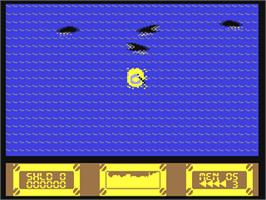 In game image of Battle Island on the Commodore 64.