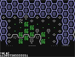 In game image of Battle for Normandy on the Commodore 64.