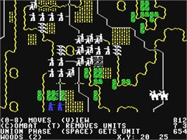 In game image of Battle of Antietam on the Commodore 64.