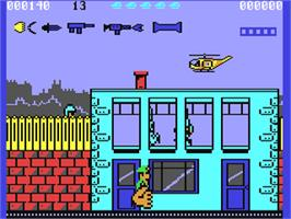 In game image of Bazooka Bill on the Commodore 64.