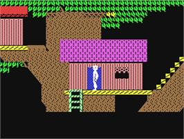 In game image of Below the Root on the Commodore 64.