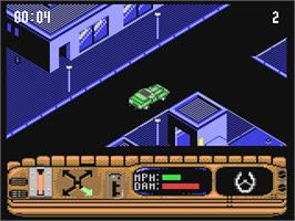 In game image of Beverly Hills Cop on the Commodore 64.
