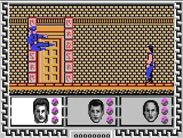 In game image of Big Trouble in Little China on the Commodore 64.