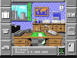 In game image of Black Gold on the Commodore 64.