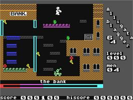 In game image of Blagger on the Commodore 64.