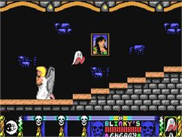 In game image of Blinky's Scary School on the Commodore 64.