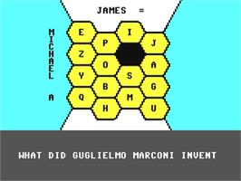 In game image of Blockbusters on the Commodore 64.