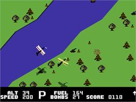 In game image of Blue Max on the Commodore 64.