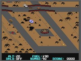 In game image of Blue Max 2001 on the Commodore 64.