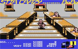 In game image of BoBo on the Commodore 64.
