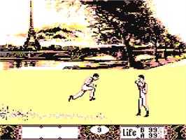 In game image of Bob Winner on the Commodore 64.