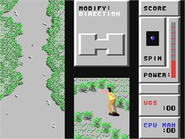 In game image of Bocce on the Commodore 64.