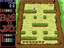 In game image of Bomb Jack II on the Commodore 64.