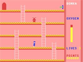 In game image of Bonka on the Commodore 64.