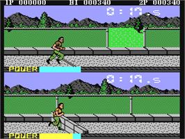 In game image of Boot Camp on the Commodore 64.