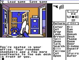 In game image of Borrowed Time on the Commodore 64.