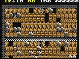 In game image of Boulder Dash on the Commodore 64.