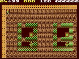 In game image of Boulder Dash Construction Kit on the Commodore 64.