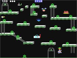 In game image of Bounty Bob Strikes Back! on the Commodore 64.