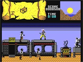 In game image of BraveStarr on the Commodore 64.
