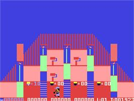 In game image of Bristles on the Commodore 64.