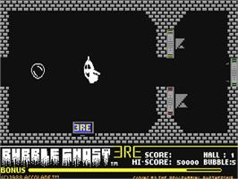 In game image of Bubble Ghost on the Commodore 64.