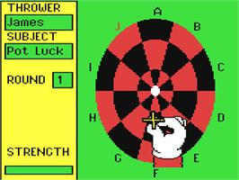 In game image of Bullseye on the Commodore 64.