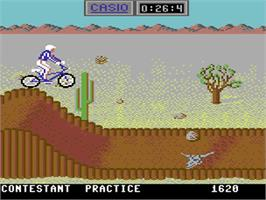 In game image of California Games on the Commodore 64.