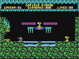 In game image of Captain Dynamo on the Commodore 64.