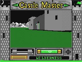 In game image of Castle Master on the Commodore 64.