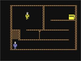 In game image of Castle Wolfenstein on the Commodore 64.