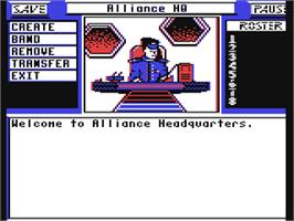In game image of Centauri Alliance on the Commodore 64.
