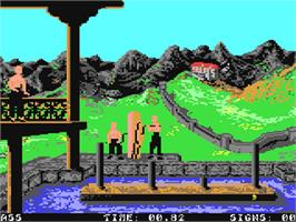 In game image of Chambers of Shaolin on the Commodore 64.