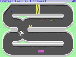 In game image of Championship Sprint on the Commodore 64.