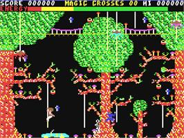 In game image of Chiller on the Commodore 64.