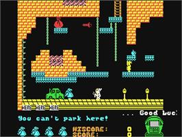 In game image of Chubby Gristle on the Commodore 64.