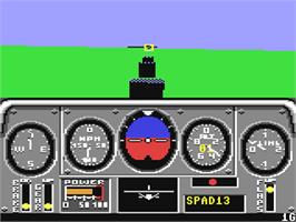 In game image of Chuck Yeager's Advanced Flight Trainer on the Commodore 64.