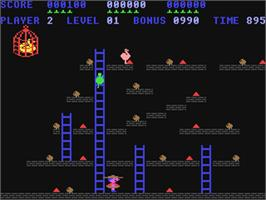In game image of Chuckie Egg on the Commodore 64.