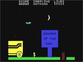 In game image of Chuckie Egg II on the Commodore 64.