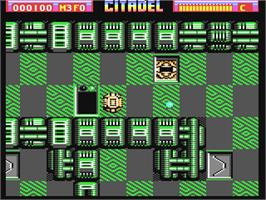 In game image of Citadel on the Commodore 64.