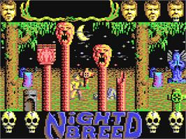 In game image of Clive Barker's Nightbreed: The Action Game on the Commodore 64.